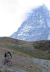 Mountain Biking by the Matterhorn Switzerland